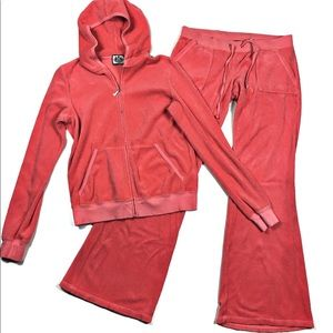 Juicy Couture Vintage Two Piece Velour Track Suit